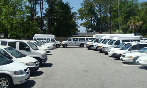Transport Care Services has a large fleet of vehicles for non-emergency transportation services