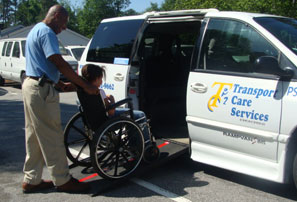 Wheelchair accessible vans are available for those who need transfer assistance